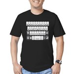 Qwerty Keyboard Men's Fitted T-Shirt (dark)