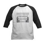 Qwerty Keyboard Kids Baseball Jersey