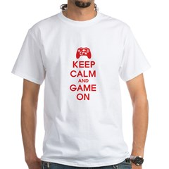 Keep Calm And Game On White T-Shirt