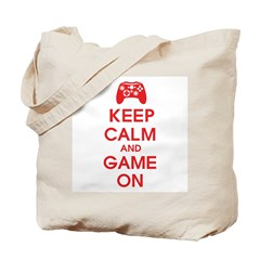 Keep Calm And Game On Tote Bag