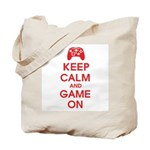Keep Calm And Game On Tote Bag