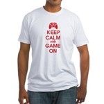 Keep Calm And Game On Fitted T-Shirt