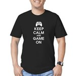 Keep Calm And Game On Men's Fitted T-Shirt (dark)