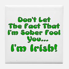 Sober Irish Tile Coaster