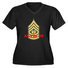 Command Sergeant Major Women's Plus Size V-Neck Da