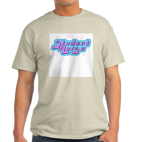 Retro Student Nurse Ash Grey T-Shirt