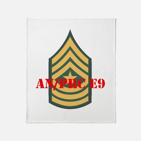 Staff Sergeant Major Throw Blanket