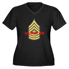 Staff Sergeant Major Women's Plus Size V-Neck Dark