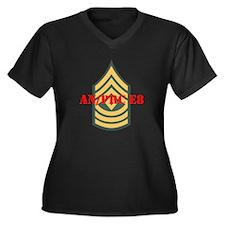 First Sergeant Women's Plus Size V-Neck Dark T-Shi