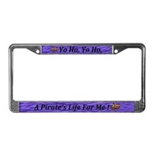 Funny Pirate life License Plate Frame