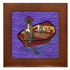 Cute Its a dogs life Framed Tile