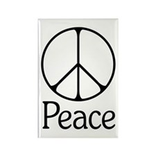 Elegant 'Peace' Sign Rectangle Magnet