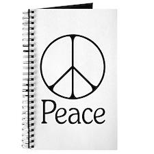 Elegant 'Peace' Sign Journal