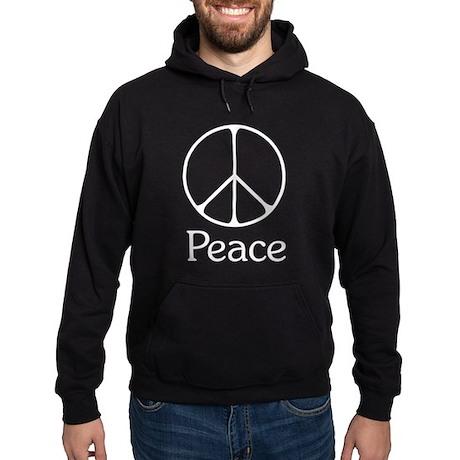 Elegant 'Peace' Sign Hoodie (dark)