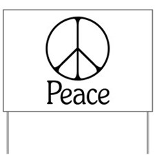 Elegant 'Peace' Sign Yard Sign