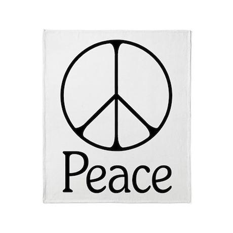 Elegant 'Peace' Sign Throw Blanket