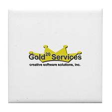 Gold-20 Services Tile Coaster