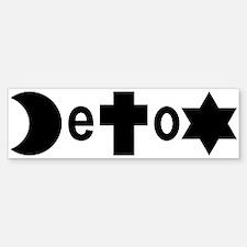 Religion DeToX Bumper Bumper Bumper Sticker