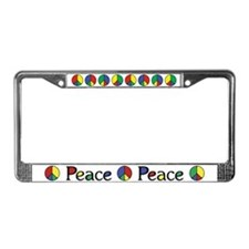 Elegant Peace Color License Plate Frame