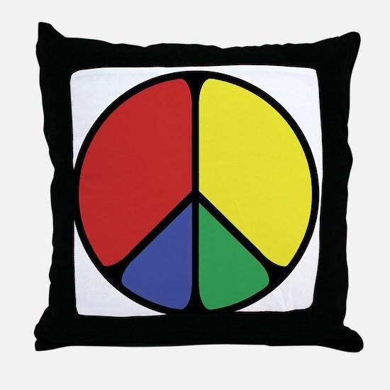 Elegant Peace Color Throw Pillow