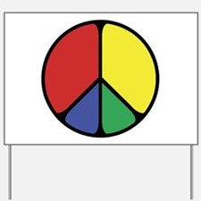Elegant Peace Color Yard Sign