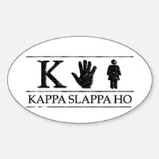 Kappa Slappa Ho (Vintage) Oval Decal