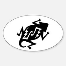 Horny Toad Sticker (Oval)