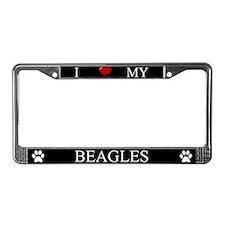 Black I Love My Beagles Frame