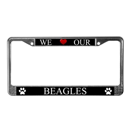 Black We Love Our Beagles Frame