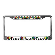 Flowing Peace Color License Plate Frame