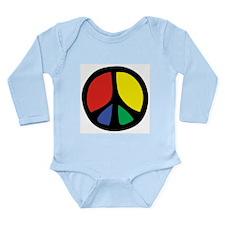Flowing Peace Color Long Sleeve Infant Bodysuit
