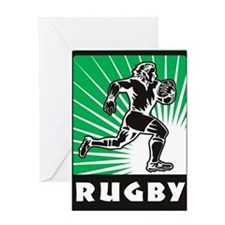 rugby player running Greeting Card