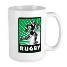 rugby player running Mug