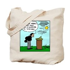 Reading a Sundial Tote Bag