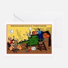 Pumpkin Pie Machine Greeting Card