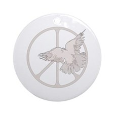 Peace Sign & Dove Ornament (Round)