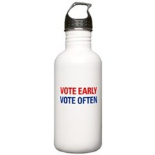 Vote Early Vote Often Water Bottle