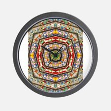 Rings of Stained Glass Wall Clock