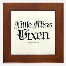 Little Miss Vixen - Framed Tile