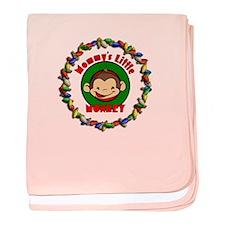 Christmas Mommy's Monkey Infant Blanket