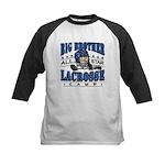 Big Brother Lacrosse Blue Kids Baseball Jersey