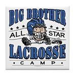 Big Brother Lacrosse Blue Tile Coaster