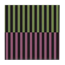 Pink & Green Strip Tile Coaster