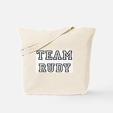 Team Rudy Tote Bag