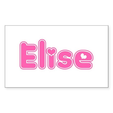 """Elise"" Rectangle Sticker"