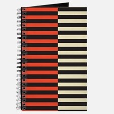 Red & White Strip Journal