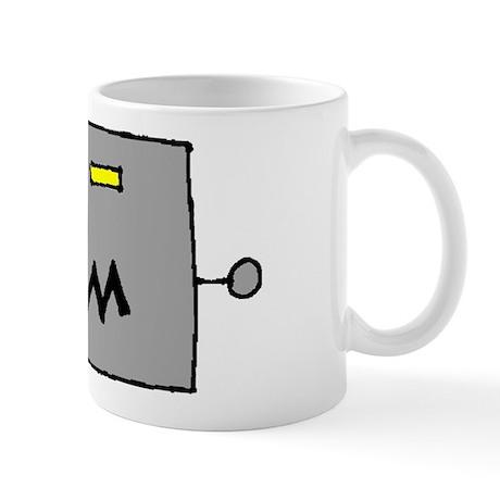 Big Grey Robot Head Mug