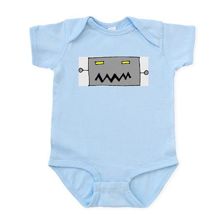 Big Grey Robot Head Infant Creeper