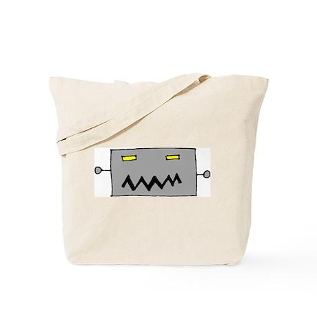 Big Grey Robot Head Tote Bag