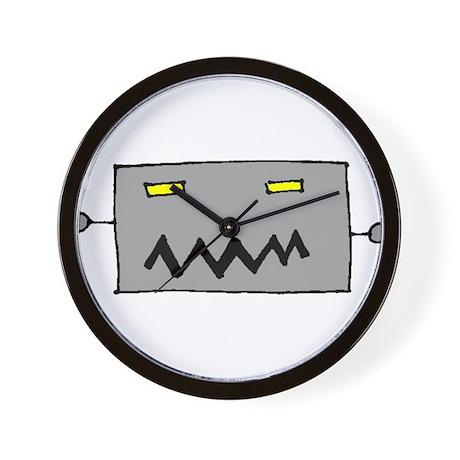 Big Grey Robot Head Wall Clock